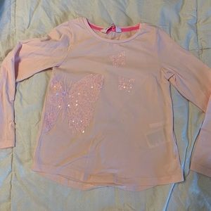 H&M baby pink long sleeve top